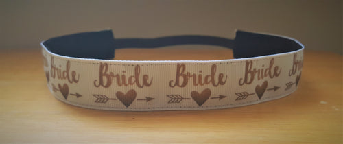 Beautiful Bride and Bridesmaid Nonslip Headbands and Key Fobs