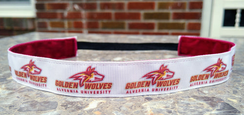 Alvernia Golden Wolves Non-slip Headband