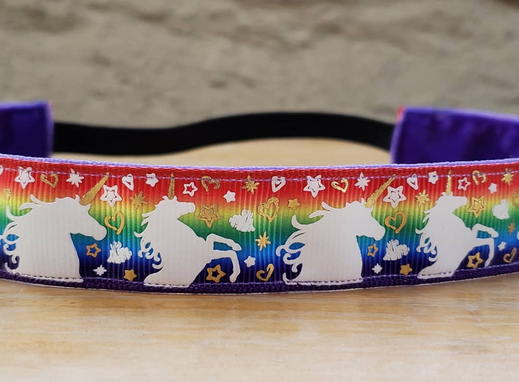 Rainbow Unicorn Nonslip Headband