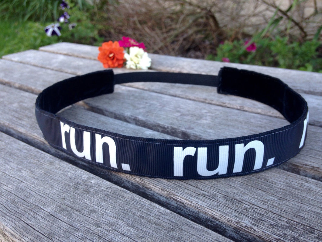 Black and White Run Headband