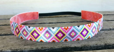 Beautiful Colors Aztec Nonslip Headband