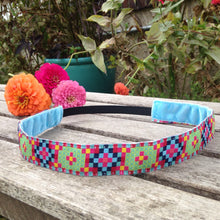 Berry and Lime Pixel Ribbon Headband