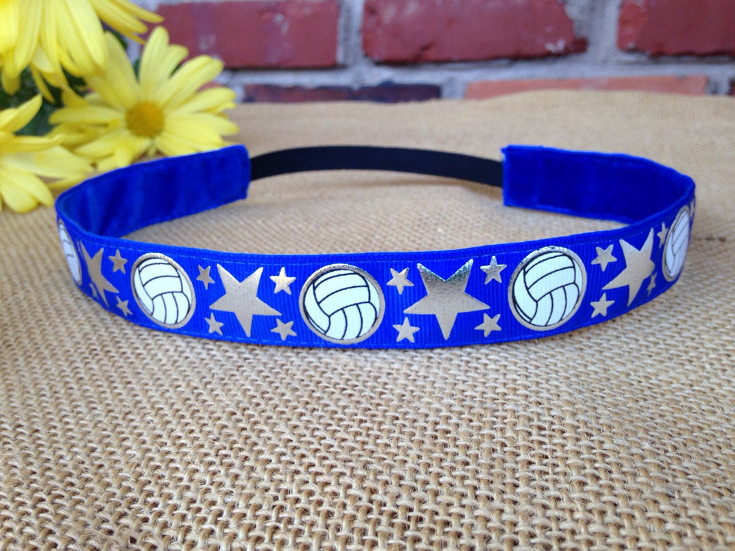 Blue Volleyball Headband