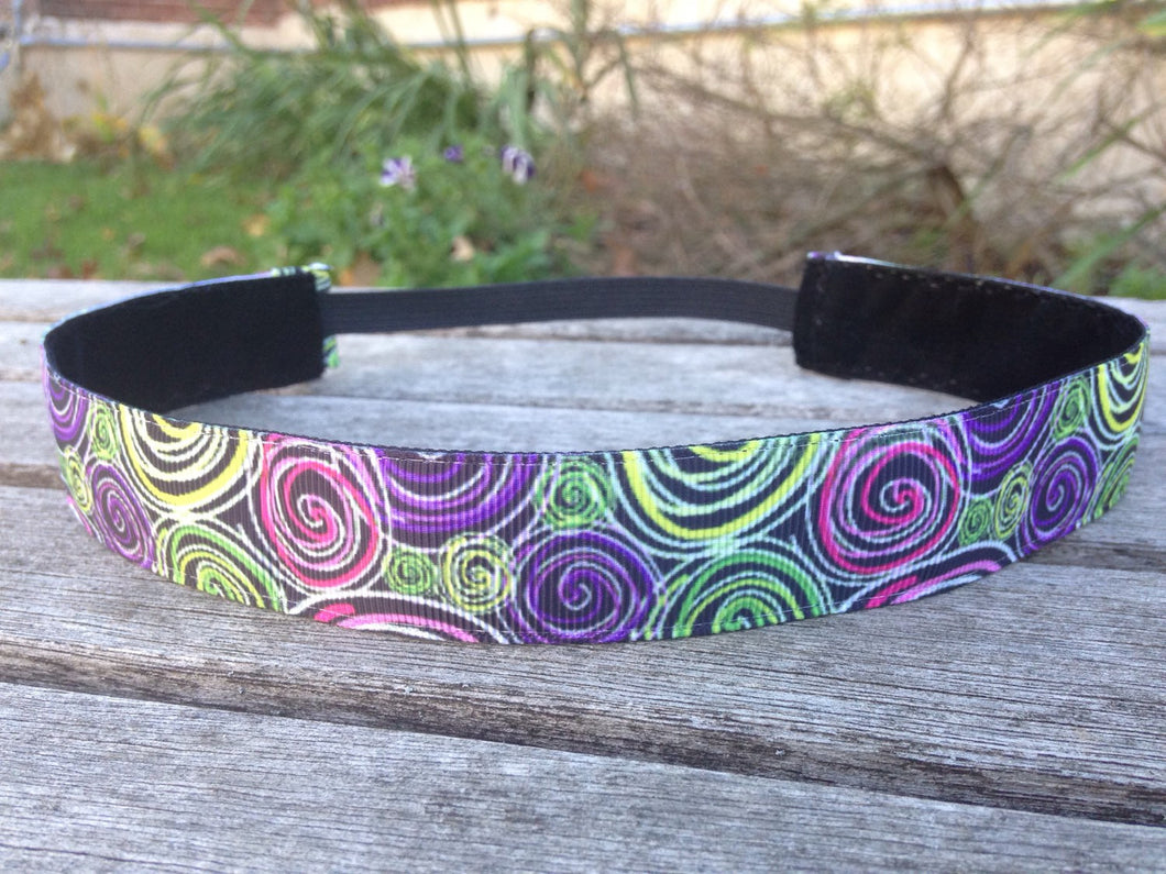 Bright Swirls Nonslip Headband