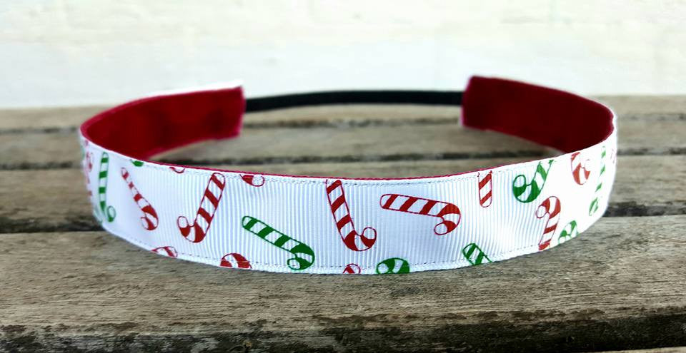 Candy Cane Nonslip Headband