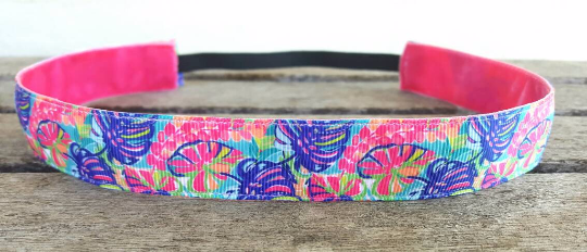 Lilly Inspired Exotic Garden Nonslip Headband