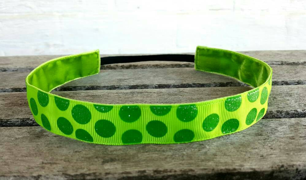 Green Polka Dots Nonslip Headband