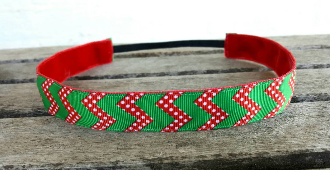 Holiday Chevron Nonslip Headband