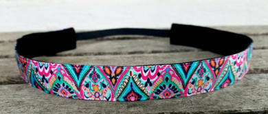 Lilly Pulitzer Inspired Medallion Nonslip Headband