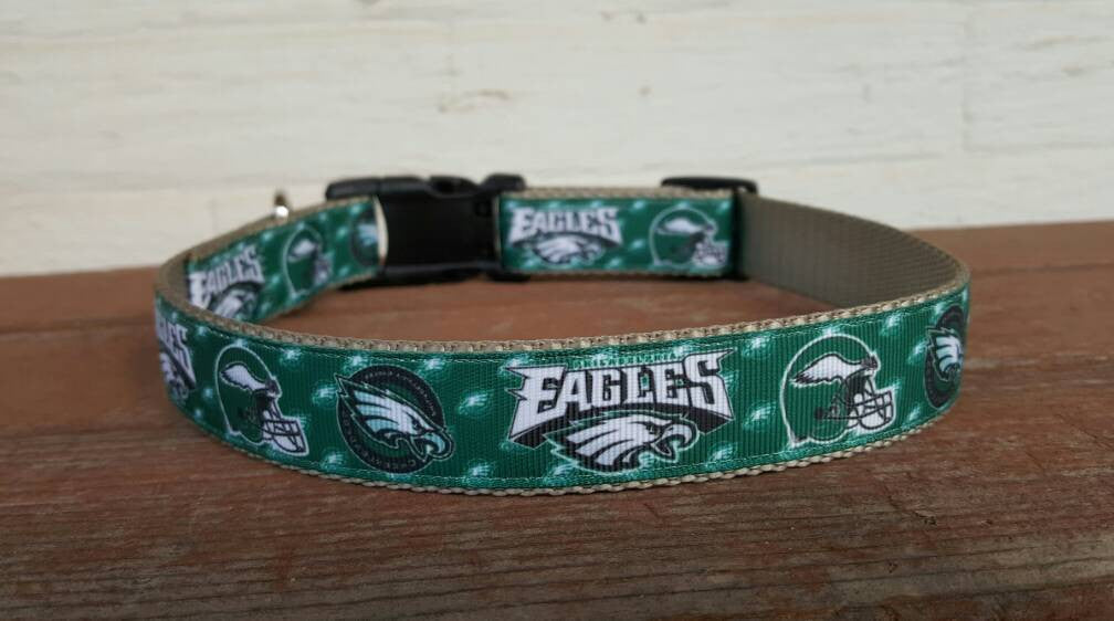 Philadelphia Eagles Inspired Dog Collar