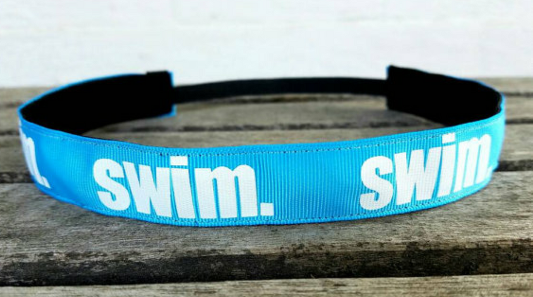 Blue Swim Nonslip Headband- 2 colors