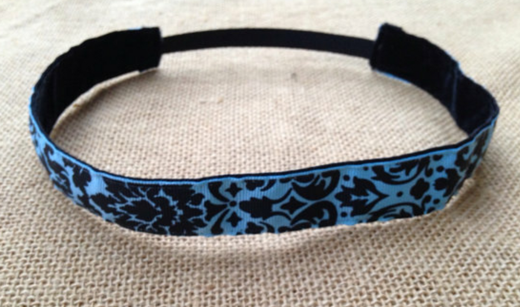Blue and Black Hip Girl Nonslip Headband