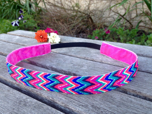 Lilly Pulitzer Inspired Chevron Headband- Wide style