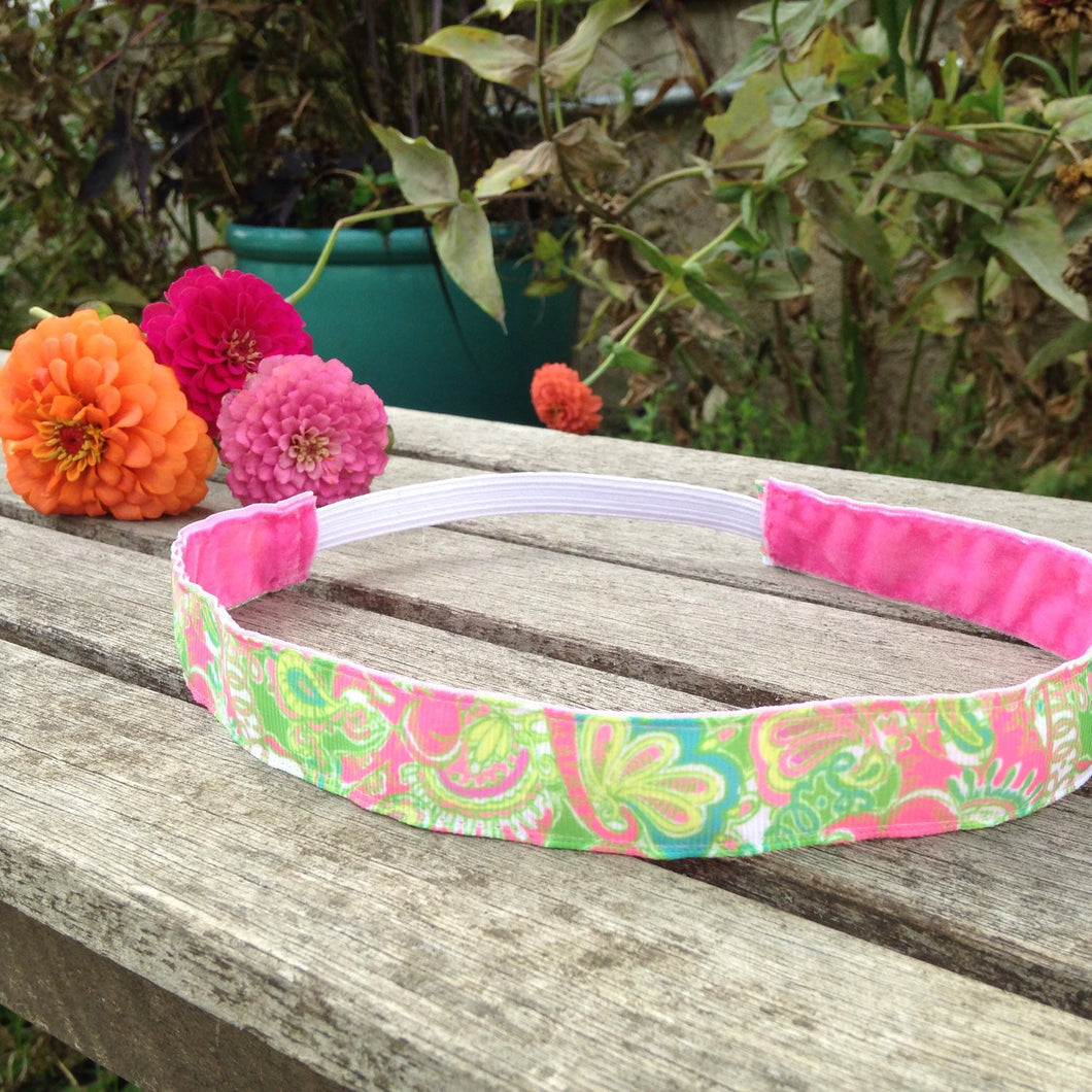 Lilly Pulitzer Inspired Elephants and Paisley Headband