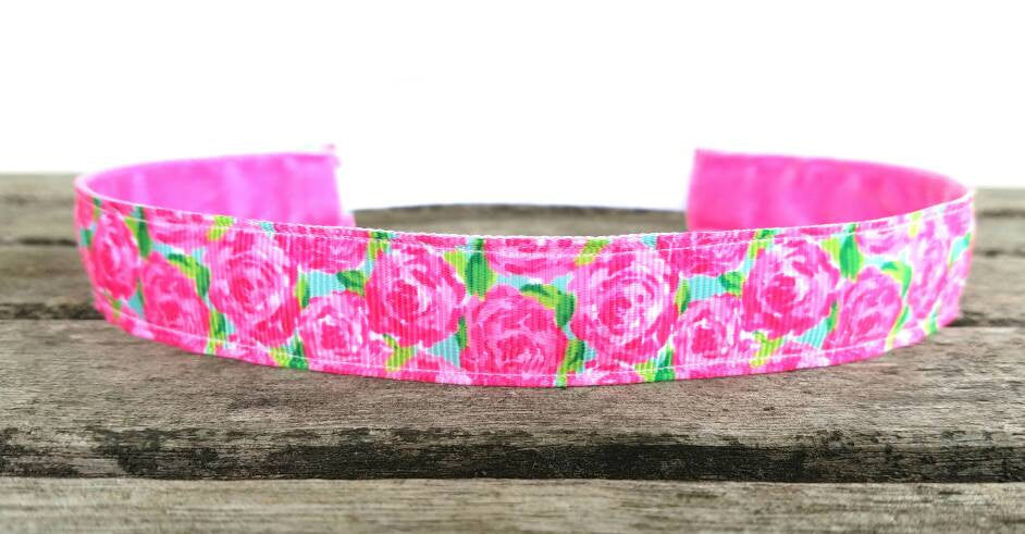 Lilly Inspired Pink Roses Headband