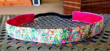 Lilly Inspired Bright Pink and Green Watercolors Headband