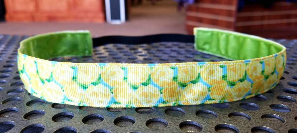 Lilly Inspired Yellow Roses Headband