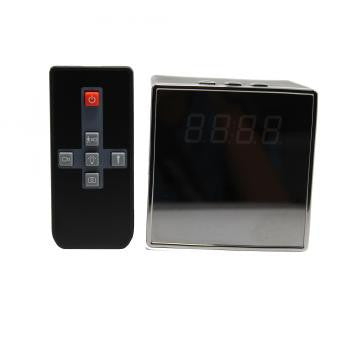 Square 1080p Spy Camera Clock Nanny Cam with Night Vision
