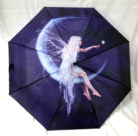 "Umbrella - Moon Fairy, 10"" L closed, opens to 21"" L x 36"" W"