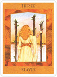 Goddess Tarot Set - Three of Wands