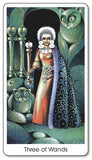 Tarot of the Cat People - Three of Wands