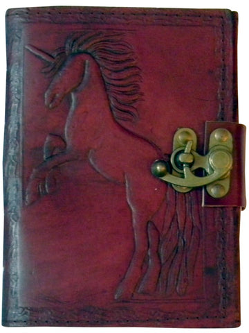 Unicorn Embossed Leather Journal