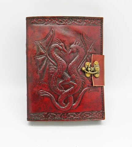 Double Dragon Hand Embossed Leather Journal