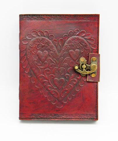 Celtic Heart Hand Embossed Leather Journal