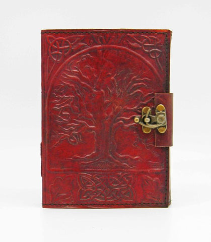 Tree of Life Hand Embossed Leather Journal 3.5 x 5 inches