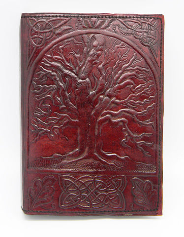 Tree of Life Embossed Leather Journal, 5 x 7 inches