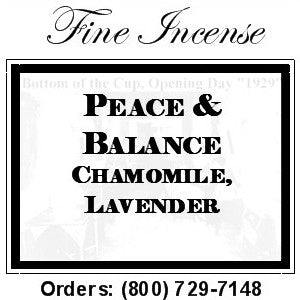 Chamomile and Lavender incense - Peace and Balance