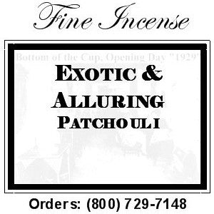 Incense - Patchouli - Exotic and Alluring