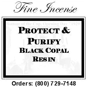 Black Copal Incense - Protect and Purify