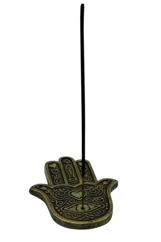 "Incense Holder - Hamsa Hand, 5"" L x 4"" W"