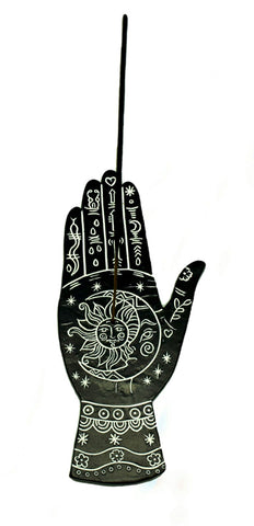"Incense Holder - Palmistry Hand, 7.5"" L x 3.5"" W"
