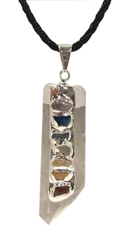 Chakra Crystals Quartz Point Necklace