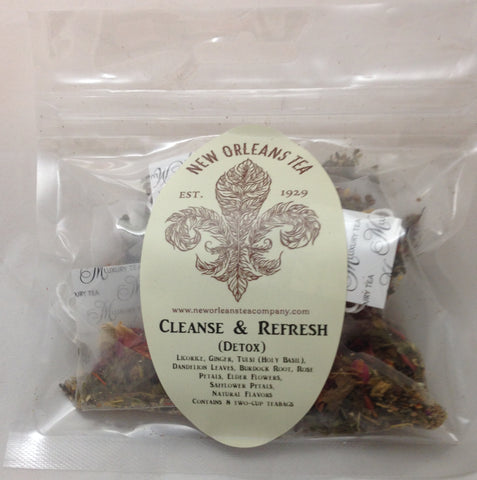 Cleanse and Refresh ( Detox) Tea  - 8 Two-Cup Pyramid Teabags