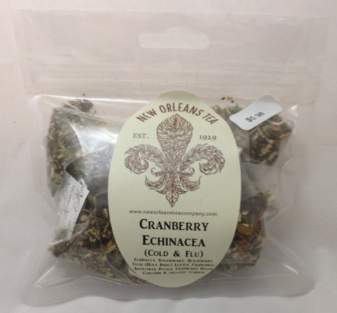 Cranberry Echinacea (Cold & Flu) - 8 Two-Cup Pyramid Teabags