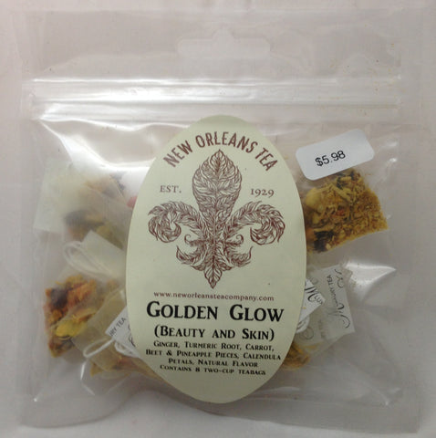 Golden Glow (Beauty and Skin) 8 Two-Cup Pyramid Teabags
