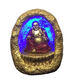 "Lucky Buddha in Cave with LED Light - 4"" x 3"" x 3"""