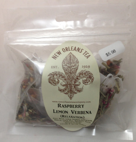 Raspberry Lemon Verbena ( Relaxation) - 8 Two-Cup Pyramid Teabags