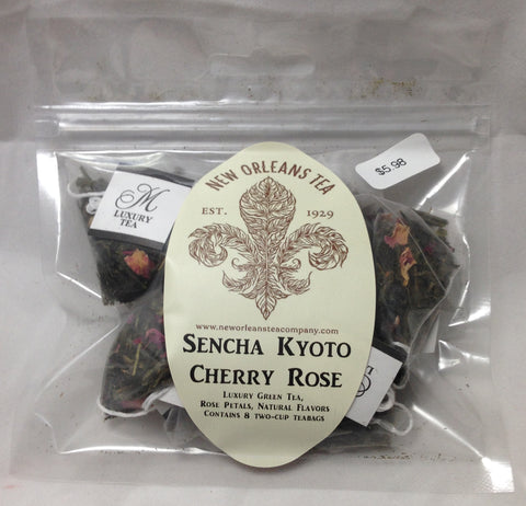 Sencha Kyoto Cherry Rose (8 Pyramid Tea Bags)
