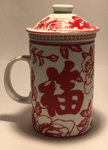 Strainer Mug – Good Fortune Red