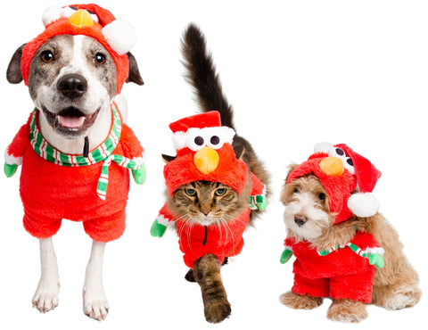 Elmo Pet Costume Santa Dog Costume