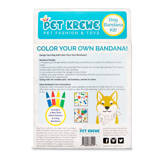 Celebration/Birthday Color-your-Own Cat Bandana Kit