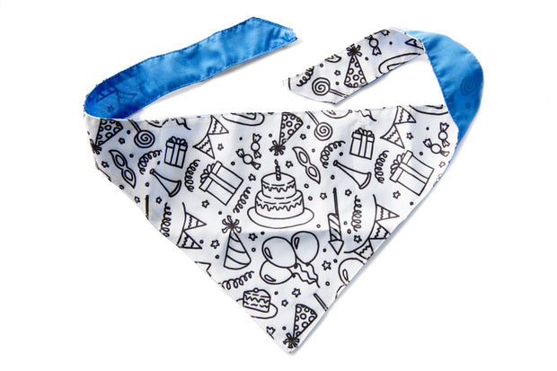 Celebration/Birthday Color-your-Own Dog Bandana Kit