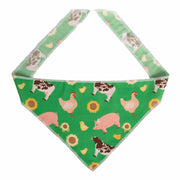 Pig/Chicken/Cow/Sunflower Farm Pet Bandana