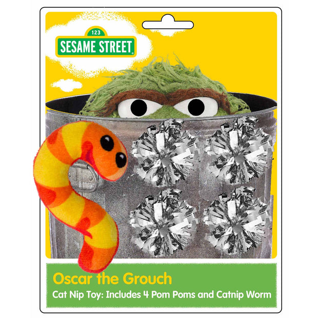 oscar the grouch cat toy