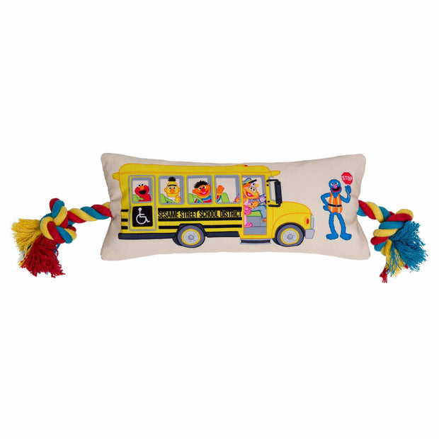 Pre-order - Sesame Street Friends School Bus Dog Toy