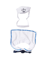 sailor cat costume includes a cat hat and ascot collar